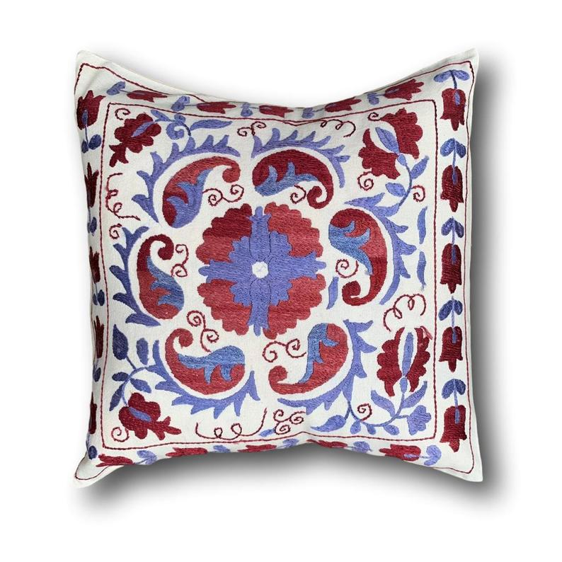 Cotton Suzani cushion cover, 43 x 45 cm (SU03)
