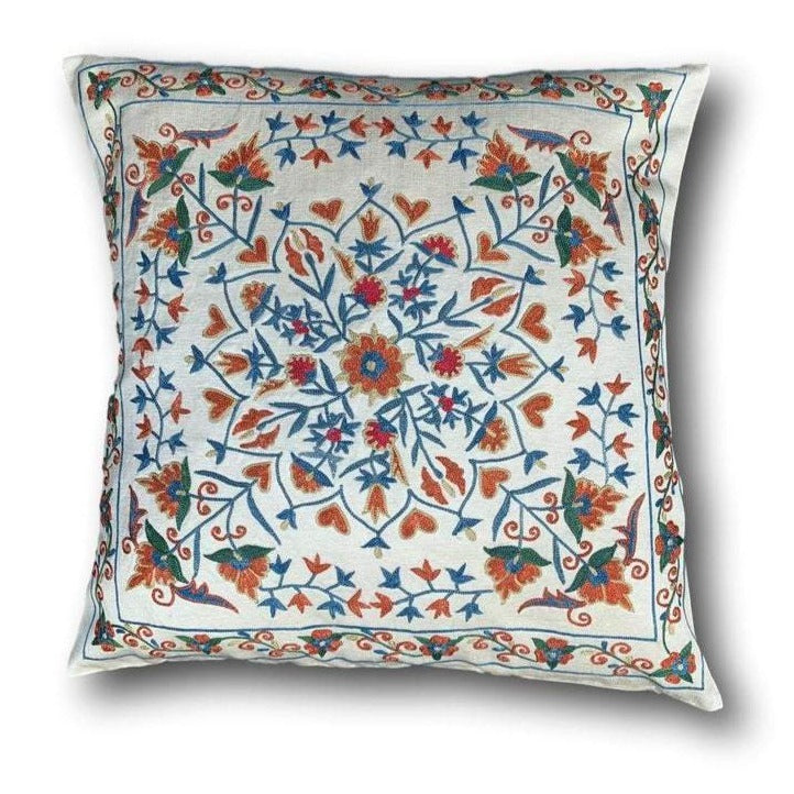 Silk Suzani cushion cover, 48 x 48 cm (SU10)