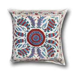 Silk Suzani cushion cover, 48 x 48 cm (SU15)