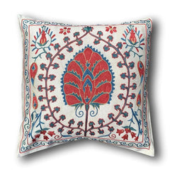 Silk Suzani cushion cover, 47 x 49 cm (SU19)