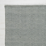 Diamond Runner Rug - Dove Grey