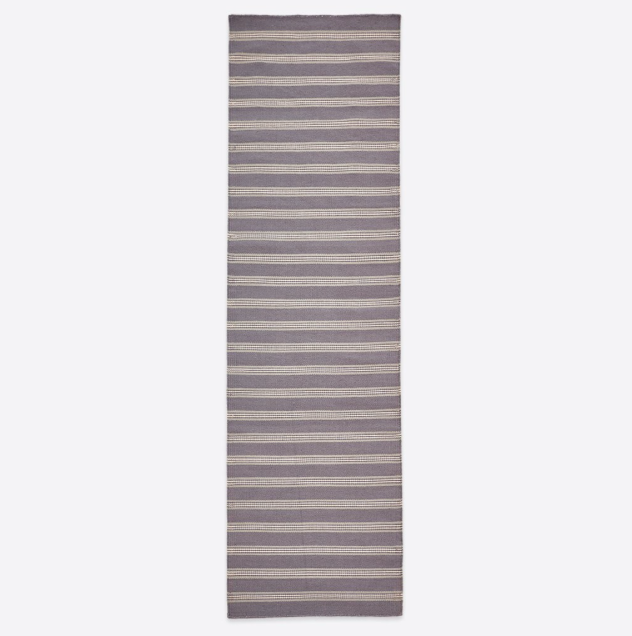 Henley Stripe Runner Rug - Clay