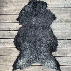 Swedish Gotland Curly Hair Sheepskin Rug - Natural Grey