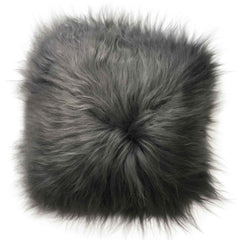Sheepskin Cushion - Icelandic Long Wool - Grey