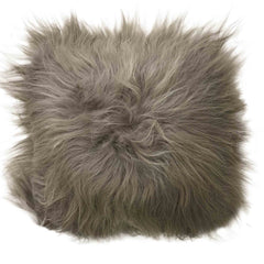Sheepskin Cushion - Icelandic Long Wool - Taupe