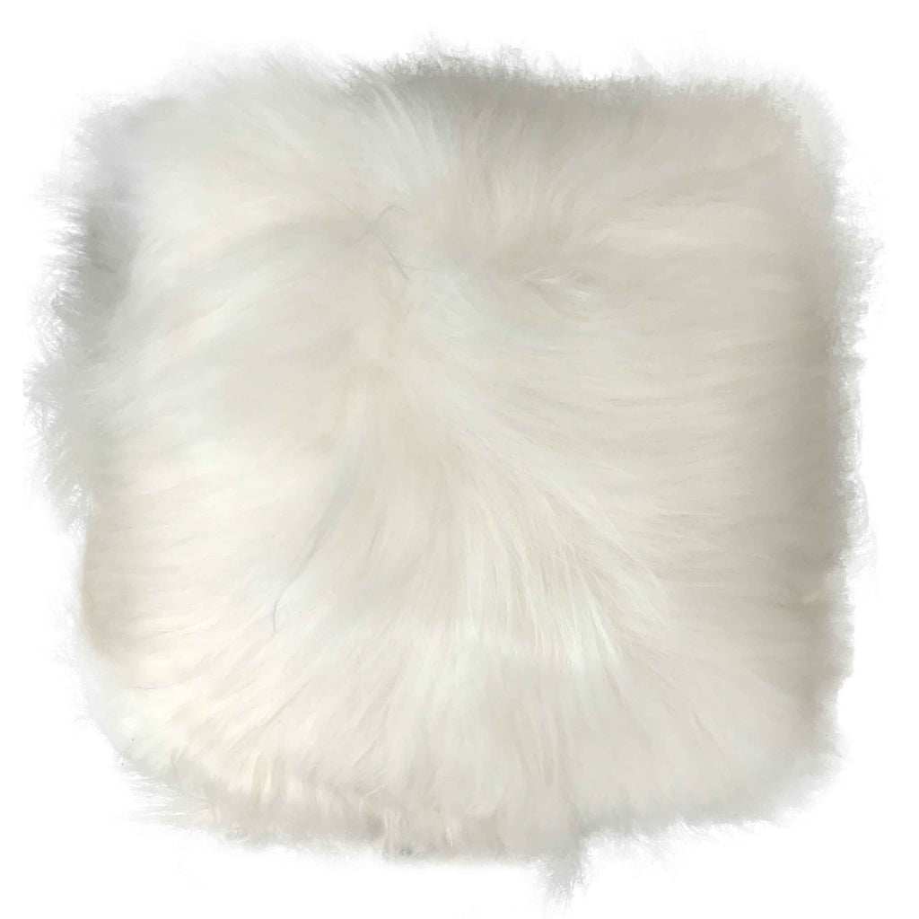 Sheepskin Cushion - Icelandic Long Wool - Natural White