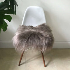 Sheepskin Seat Pad - Icelandic Long Wool - Taupe