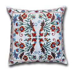 Silk Suzani cushion cover, 47 x 47 cm (SU34)