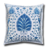 Silk Suzani cushion cover, Pale Blue 46 x 48 cm (SU28)