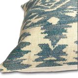 Cushion cover - Teal Blue Tribal Pattern -  30 x 50 cm