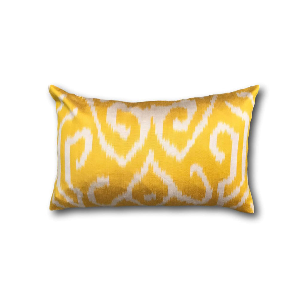 IKAT cushion cover - Yellow - Double sided small 25 x 40 cm