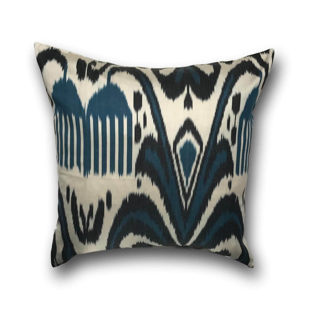 IKAT cushion cover -Black and Blue -  50 x 50 cm