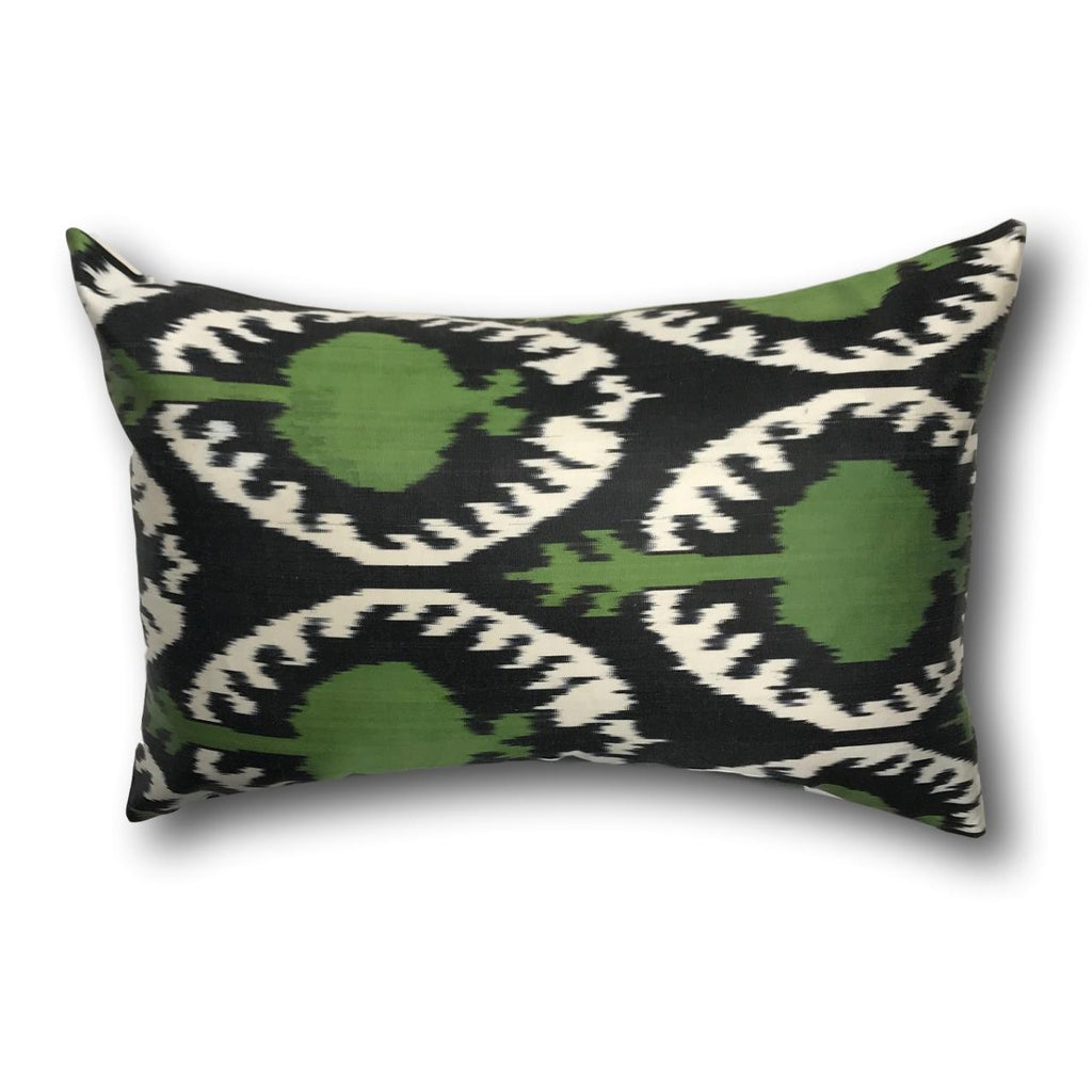 IKAT cushion cover - Green Pom- 40 x 60 cm