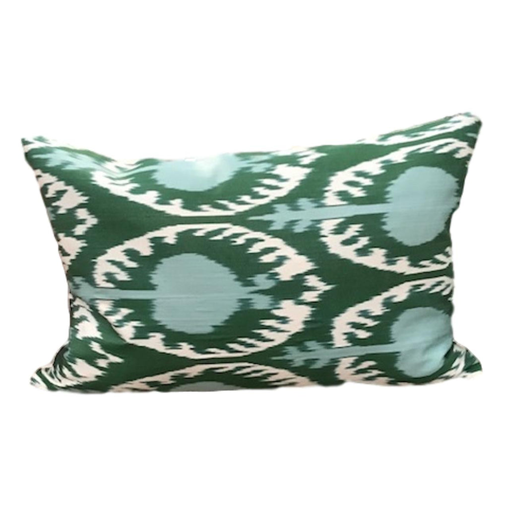 IKAT cushion cover - Green Blue - 40 x 60 cm