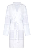 Short Lightweight Unisex Cotton Robe with Grey stripe from my little wish