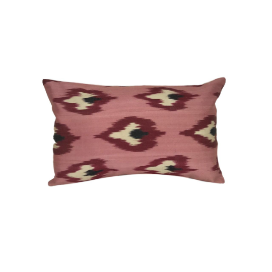 IKAT cushion cover - Pink double sided small- 25 x 40 cm