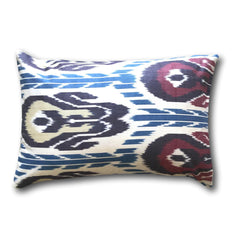IKAT cushion cover - Double Sided- Blue, Red and Purple 40 x 60 cm