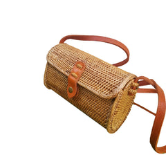 Rattan Bali Purse Brown