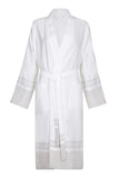 Lightweight Unisex Cotton Robe with Beige stripe from my little wish