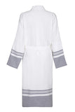 Lightweight Unisex Cotton Robe - Grey