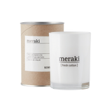 Meraki scented candle with fresh cotton scent - mkap020