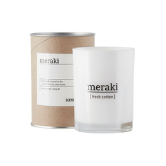 Meraki scented candle with fresh cotton scent - mkap010