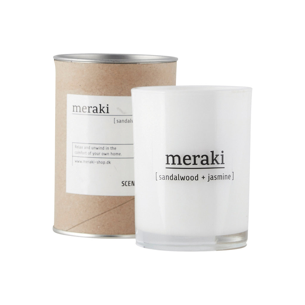 Meraki scented candle with sandelwood and jasmine scent - mkap011