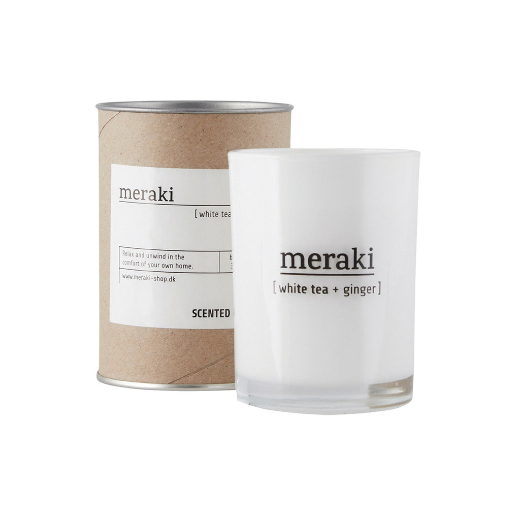 Meraki scented candle with white tea and ginger scent - mkap022