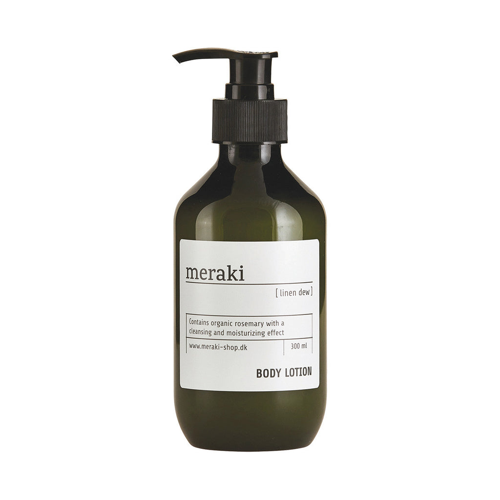 Meraki body lotion with linen dew scent