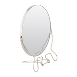 meraki steel mirror with steel finish, 25 cm