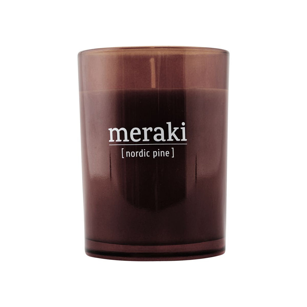 Meraki scented candle with a Nordic pine scent - mkap032