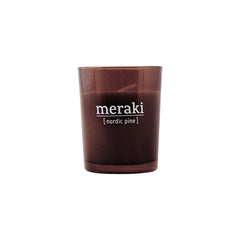 Meraki scented candle with Nordic Pine scent