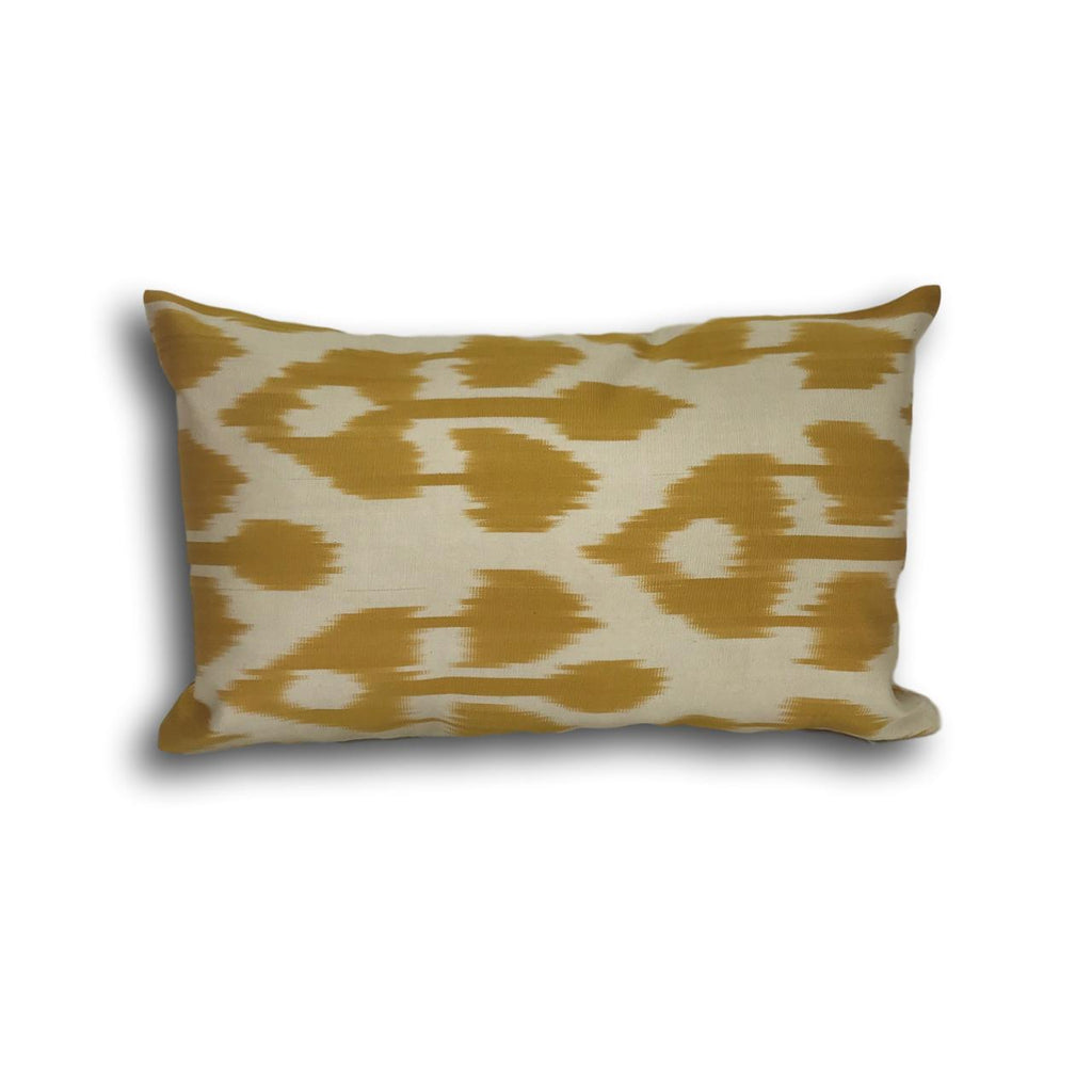 IKAT cushion cover -Mustard double sided small- 25 x 40 cm