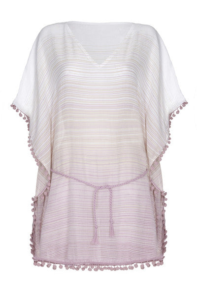 Front Pompom Beach Kaftan in Pink from my little wish