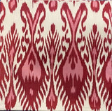 IKAT cushion cover - Red and Pink 50 x 50 cm