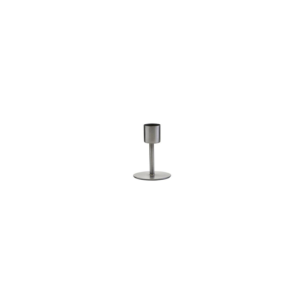 House Doctor Candle Holder, Anit Silver Small