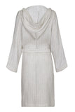 Hooded Unisex Linen Robe - Beige