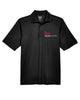 Men's Black Performance Pique Polo shirt with Embroidered with KW logo