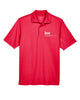 Men's Red Performance Pique Polo shirt with Embroidered with KW logo