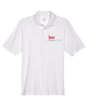Men's White Performance Pique Polo shirt with Embroidered with KW logo