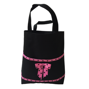 Black and Hot Pink Open Tote