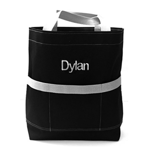 Black & Gray Open Tote
