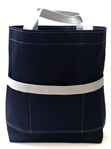 Black and Gray Open Tote