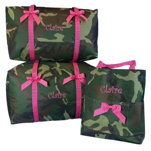 Camo with Hot Pink Three Piece Set