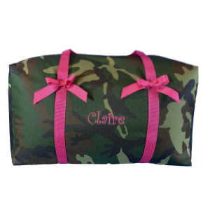 Camo with Hot Pink Super Duffle