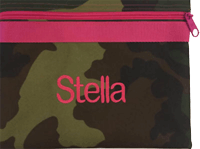 Camo with Hot Pink Zip Pouch
