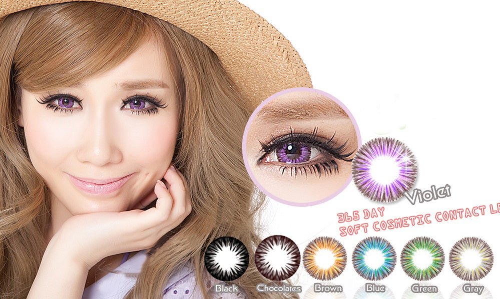 Circle lenses CICI Hee Love - Dandelion (Purple)
