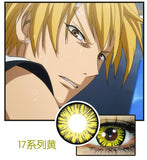 Circle lenses cosplay  -  17set yellow(yellow) - Girlsight  - 2
