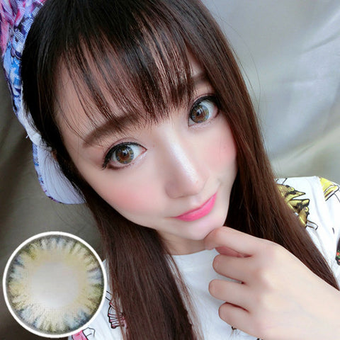 Contact lenses RT Rui pupil - cake four-color (Blue) - Girlsight