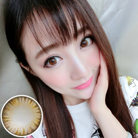 Contact lenses RT Rui pupil - cake four-color (Brown) - Girlsight
